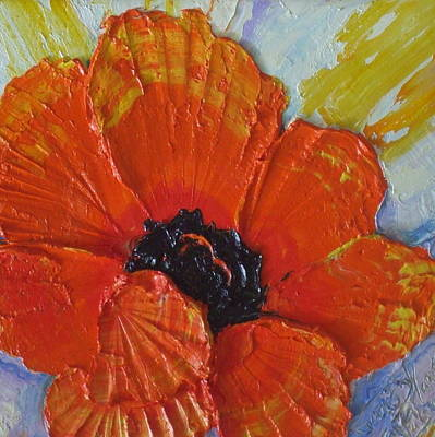 Orange Poppy Print by Paris Wyatt Llanso