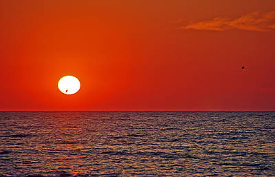 Sunsets Photograph - Orange Sunset by Aimee L Maher Photography and Art Visit ALMGallerydotcom