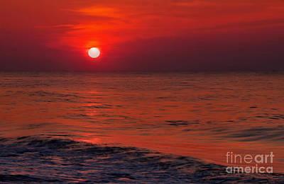 Orange Photograph - Orange Sunset by Jeff Breiman