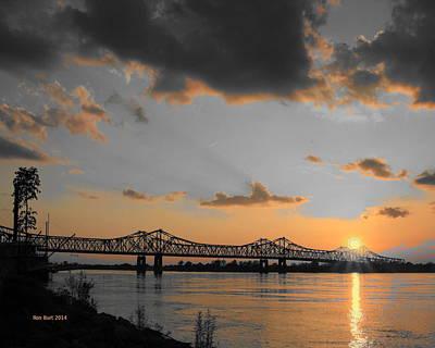 Mississippi Digital Art - Orange Sunset by Ron  Burt