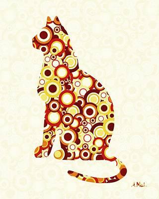 Orange Tabby - Animal Art Print by Anastasiya Malakhova