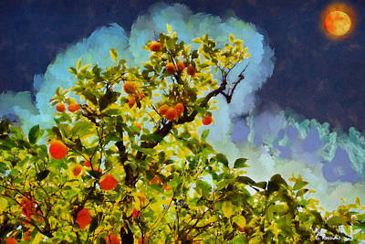 Surreal Painting - Orange Tree by George Rossidis