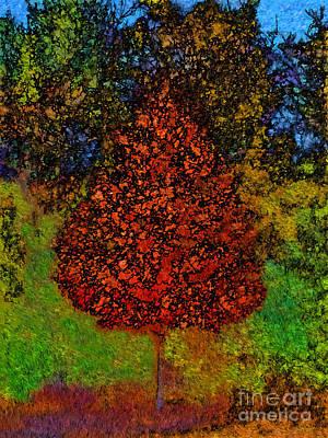 Landscape Photograph - Orange Tree Impression by Jeff Breiman