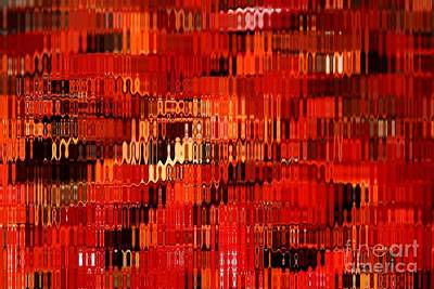 Orange Under Glass Abstract Print by Carol Groenen
