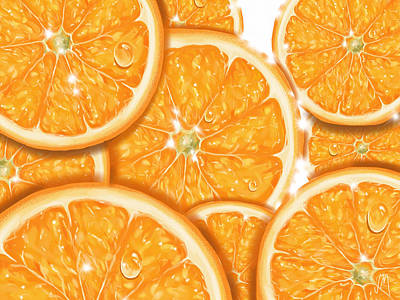 Digital Painting - Orange by Veronica Minozzi