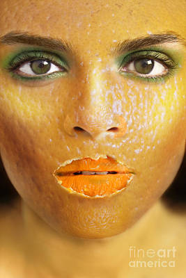 Manipulation Photograph - Orange Woman by Diane Diederich