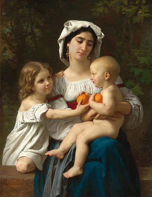 William-adolphe Bouguereau Painting - Oranges by William-Adolphe Bouguereau