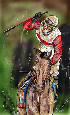 Race Horse Drawing - Orb by Dave Olsen