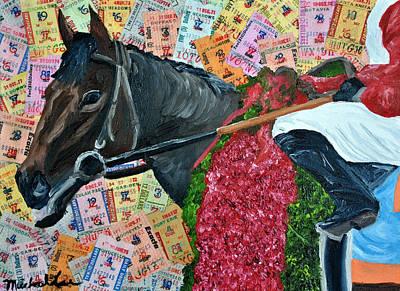 Kentucky Derby Mixed Media - Orb Derby Winner by Michael Lee