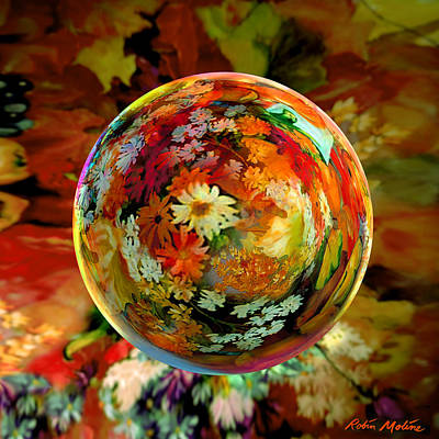 Colored Digital Art - Orb Of Forever Autumn by Robin Moline
