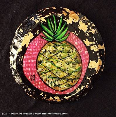 Pineapple Mixed Media - Orbis Pineapple  by Mark M  Mellon
