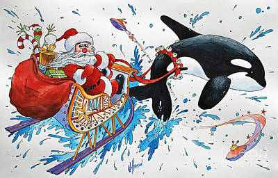 Orca Santa Print by James Williamson