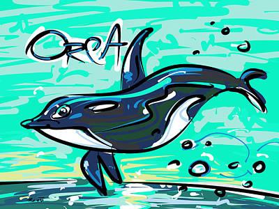 Orca Drawing - Orca Whale by Brett LaGue