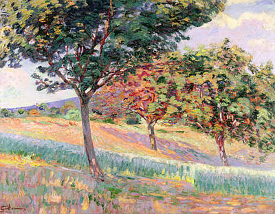 Meadow Painting - Orchard At St Cheron by Jean Baptiste Armand Guillaumin