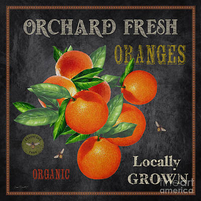 Locally Grown Painting - Orchard Fresh Oranges-jp2641 by Jean Plout