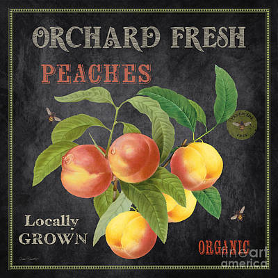 Orchard Fresh Peaches-jp2640 Print by Jean Plout