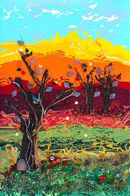Orchard Harvest Print by Donna Blackhall