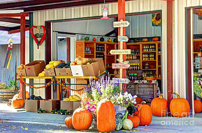 Orchard Valley Market Print by Bob Hislop