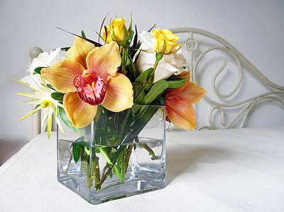 Orchid Bouquet Print by Irina Sztukowski