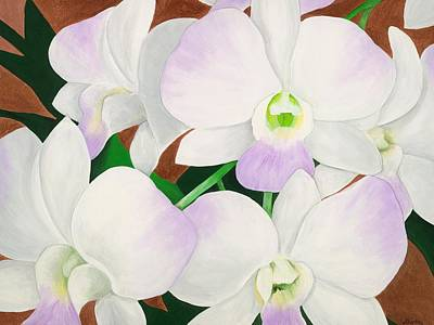 Orchid Splendor Painting Print by Lisa Bentley