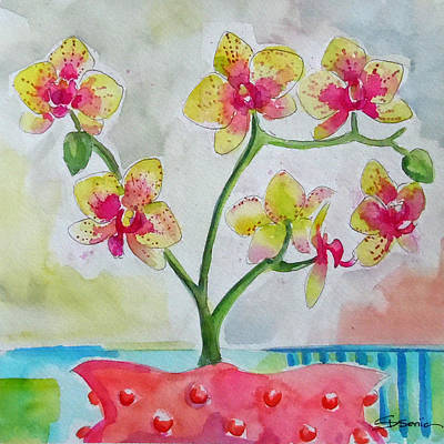 Orchid Art Painting - Orchid Study by Roleen  Senic