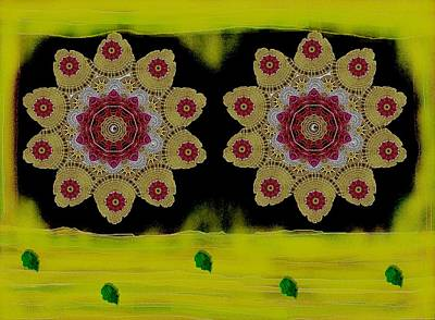 Waterscape Mixed Media - Orchids By The Water by Pepita Selles