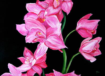 Pople Painting - Orchids by Debi Starr