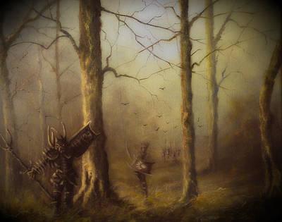 Lotr Painting - Orcs Of Isnegard by Joe  Gilronan