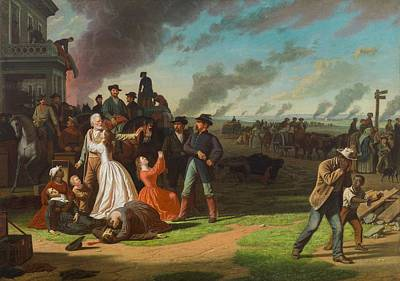 Oppression Photograph - Order No. 11, 1865-70 Oil On Canvas by George Caleb Bingham