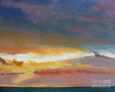 Oregon Coast Sunset Print by Melody Cleary