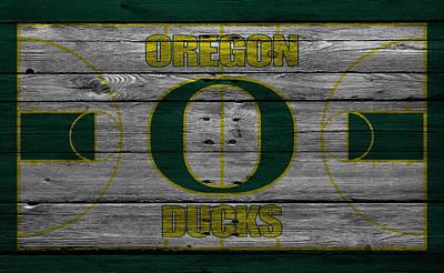 Oregon Ducks Print by Joe Hamilton