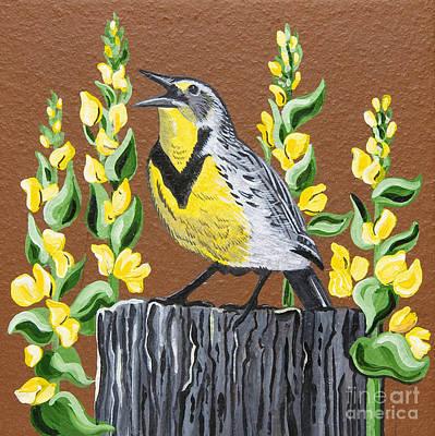 Meadowlark Painting - Oregon Meadowlark by Jennifer Lake