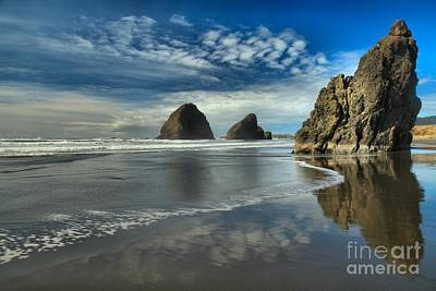 Oregon Sea Stack Surf Print by Adam Jewell