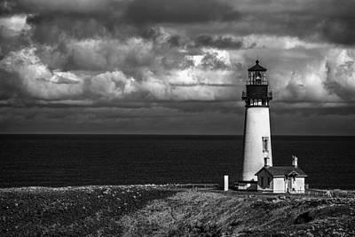 Yaquina Head Lighthouse Photograph - Oregon's Yaquina Head Lighthouse by Andrew Soundarajan