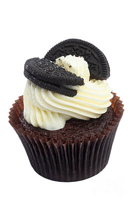 Oreo Cookie Cupcake Print by Rosemary Calvert