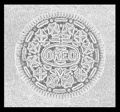 Oreo In Grey Print by Rob Hans