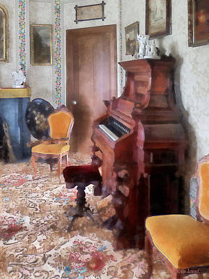 Benches Photograph - Organ In Victorian Parlor by Susan Savad