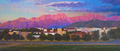Las Cruces Painting - Organ Mountains by Abel DeLaRosa