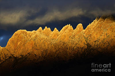 Las Cruces Photograph - Organ Mountains Magical Light by Bob Christopher
