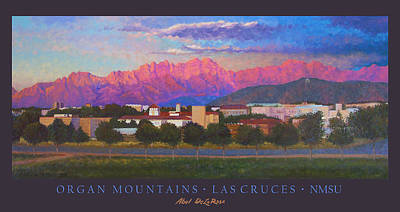 Las Cruces Painting - Organ Mountains-poster by Abel DeLaRosa
