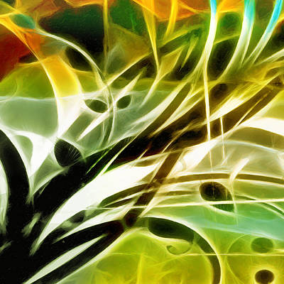 Colorful Abstract Digital Art - Organic Spring by Ann Croon