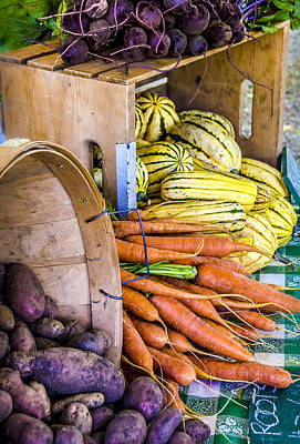 Locally Grown Photograph - Organic Vegetable Farm Stand by Julie Palencia