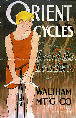 Waltham Photograph - Orient Cycles Vintage Bicycle Poster by Edward Fielding