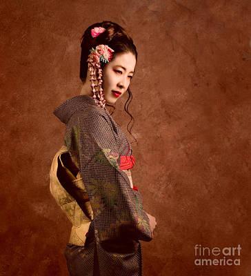 Lips Digital Art - Oriental Beauty by Julian Cook