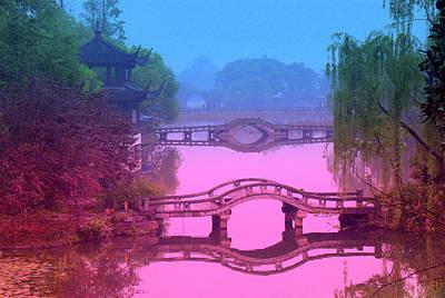 Oriental Bridge Print by Larry Moloney