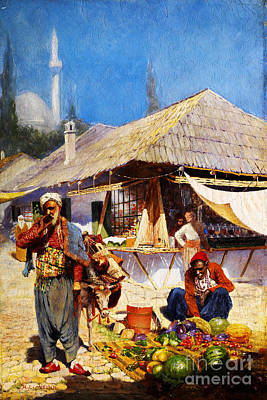 Religious Painting - Oriental Market Scene by Celestial Images