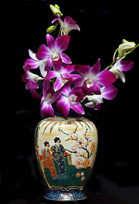 Oriental Orchids. Print by Terence Davis