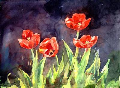 Oriental Poppies Original by Spencer Meagher
