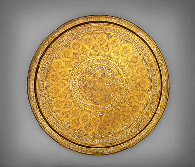 Jihad Painting - Oriental Tray by Celestial Images