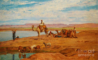 River Painting - Orientalist Paintings by Celestial Images